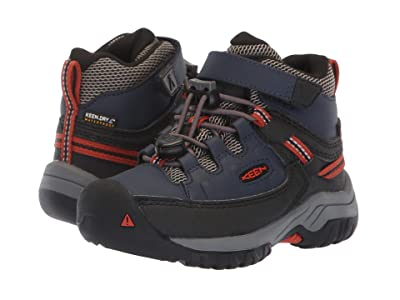 Keen Kids Targhee Mid WP (Toddler/Little Kid) (Blue Nights/Roobios) Boy
