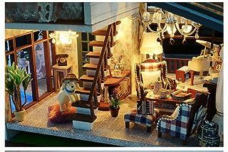 BIANJESUS DIY London Holiday Hut Innovative Handmade Small Wooden House Light Music Dream Housefurniture Model Villa Handcraft Birthday Thanksgiving Day Gift Girlfriend Valentines Day