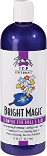 Top Performance Bright Magic Dog Shampoo and Cat Shampoo – Safe Formula for Bathing Puppies and Kittens in 17 Oz. Bottle