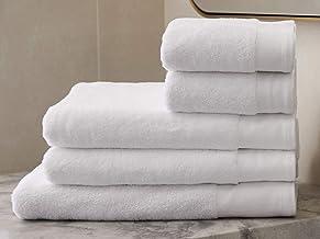 Revival New York Single Border Single Pile Terry-Ring Spun-100% Cotton Bath Rug (21x34 - Pack of 36), White