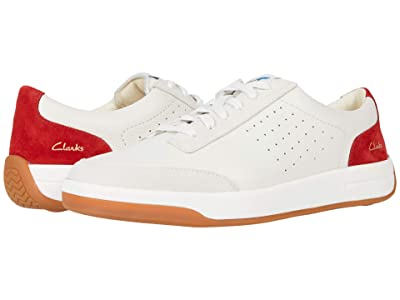 Clarks Hero Air Lace (White/Red) Men