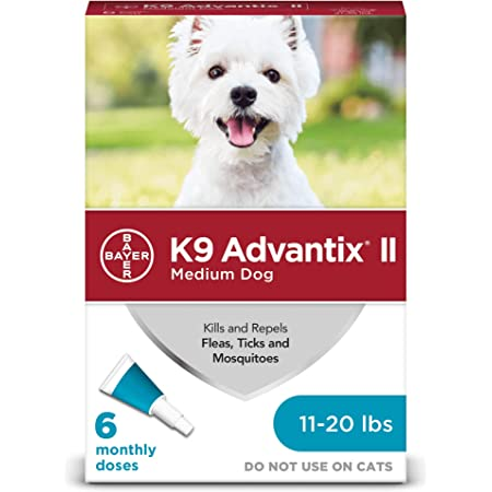 K9 Advantix II Flea and Tick Prevention for Medium Dogs, 11-20 Pounds