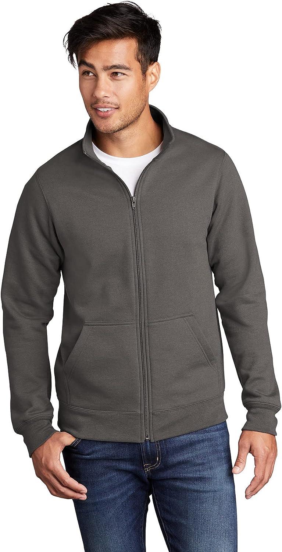 In stock JustBlanks Mens Long Sleeve Quality inspection Fleece Heavywei Fit Loose Sweatshirt