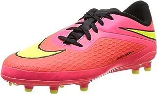 Nike Kids Jr Hypervenom Phelon FG Brght Crmsn/VLT/Bypr Pnch/Blck Soccer Cleat 1 Kids US