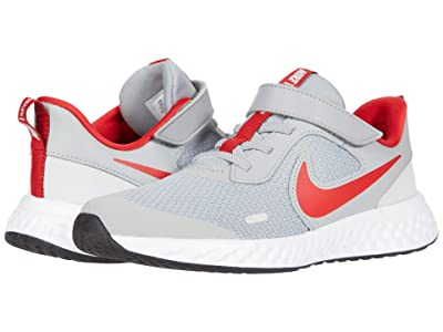 Nike Kids Revolution 5 (Little Kid) (Light Smoke Grey/University Red/Photon Dust) Boys Shoes