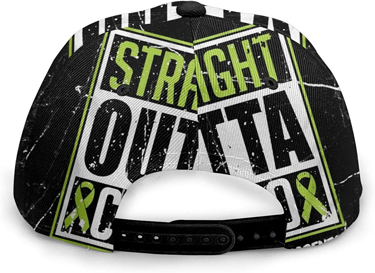 Xindianpucsk Straight Outta Chemo Lymphoma Cancer Awareness Unisex Fashion Flat Baseball Cap