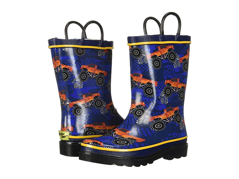 Western Chief Kids Limited Edition Printed Rain Boots (Toddler/Little Kid/Big Kid) (4X4 Zoom Blue) Boys Shoes