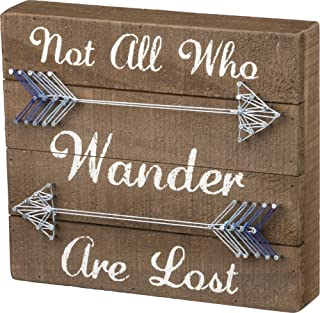 Primitives by Kathy 33176 String Art Box Sign, 9