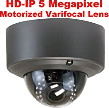 GW Security 5 Megapixel 2592 x 1920 Pixel 4X Optical Zoom Outdoor PoE 1920P Security Dome IP Camera with 2.8-12mm Varifocal Motorized Zoom Len and 30Pcs IR LED up to 80FT IR Distance