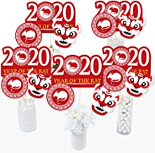 Big Dot of Happiness Chinese New Year - 2020 Year of the Rat Party Centerpiece Sticks - Table Toppers - Set of 15