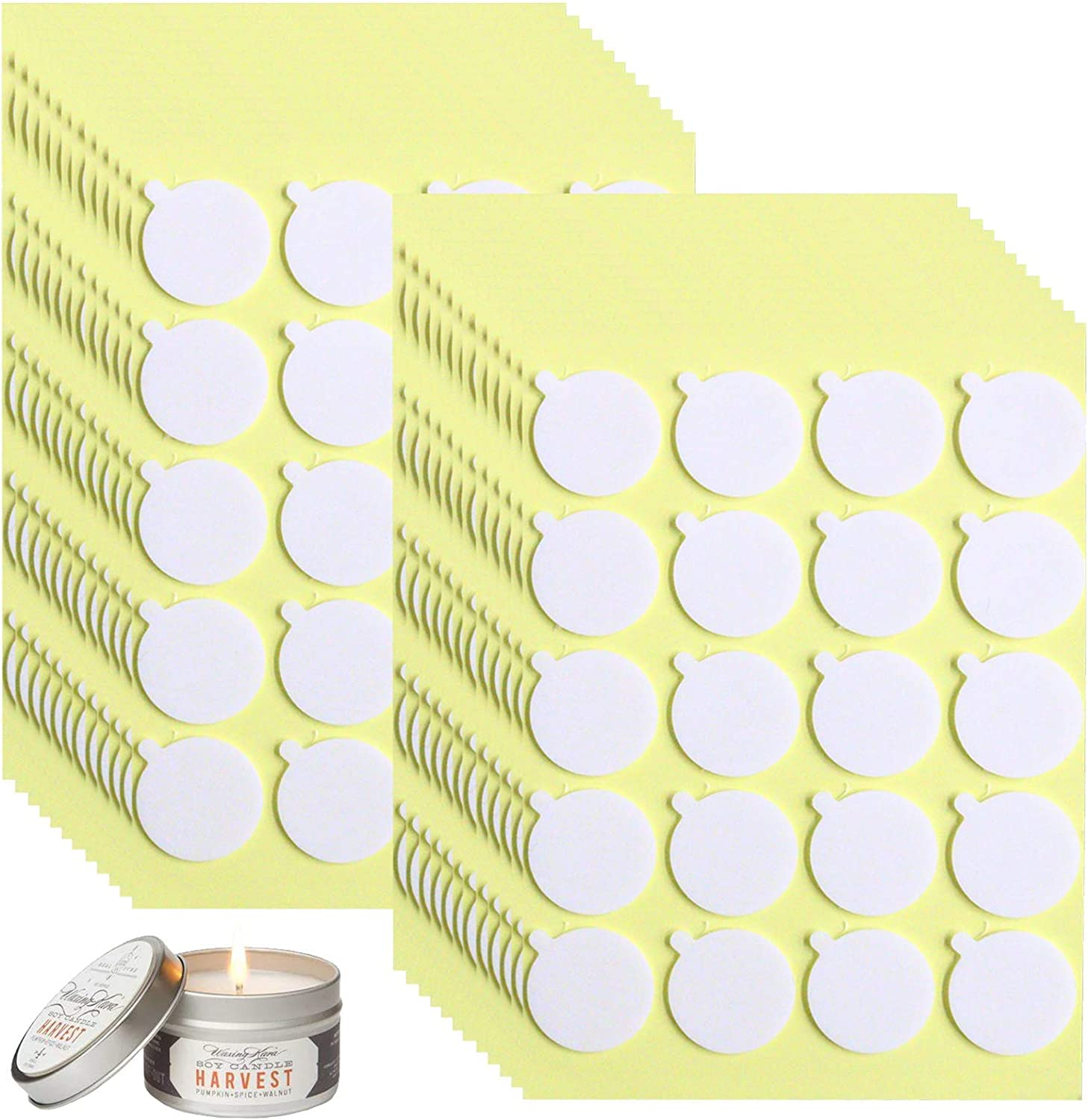 480PCS Candle Wick Stickers Industry Limited time trial price No. 1 Heat Sticke Resistance Double-Sided