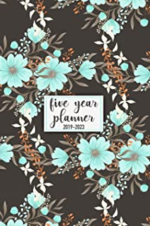 Five Year Planner: 2019 - 2023 Pocket Planner and Monthly Planner for 5 Year Plan   60 Month Calendar with Federal Holidays