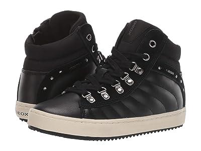 Geox Kids Jr Kalispera 23 (Little Kid/Big Kid) (Black Oxford) Girls Shoes