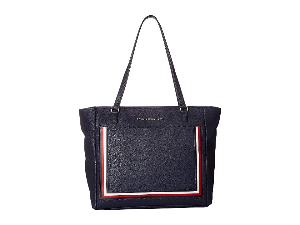 Tommy Hilfiger Carmen Tote (Tommy Navy) Tote Handbags