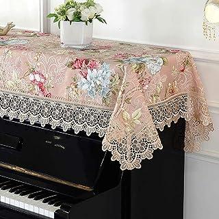 Cubierta de Piano Cubierta de Piano de Cola Piano Vertical Medias de la Cubierta del cordón del Bordado de Toallas Piano Piano Estilo Europeo a Prueba de Polvo Cubierta de Tela Lavable a máquina