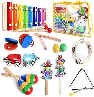سازهای موسیقی SMART WALLABY با Xylophone for Kids تنظیم شده است. 15 عدد مجموعه سازهای کوبه ای اسباب بازی چوبی Toddler با یک جایزه رایگان کتاب موسیقی (eBook)