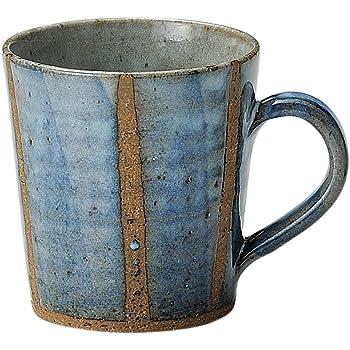 信楽焼 へちもん 青萩立線 マグカップ