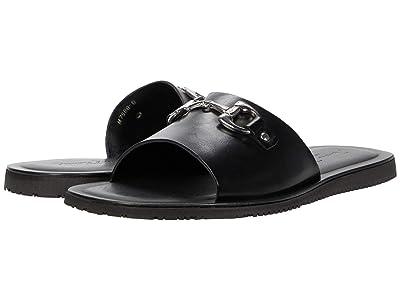 Massimo Matteo Leather Slide with Bit (Black) Men