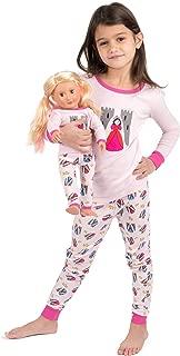 Leveret Kids & Toddler Pajamas Matching Doll & Girls Pajamas 100% Cotton Pjs Set (Toddler-14 Years) Fits American Girl