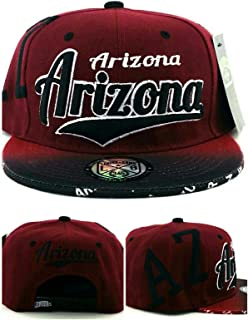 Arizona AZ New Leader Flash Fade Sedona Red Black Era Snapback Hat Cap