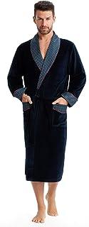 LEVERIE Robe de Chambre Classe Homme Automne/Hiver en Coton. Fabriquée dans l'UE.