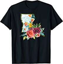Louisiana Watercolor Flower Cute Gift T-Shirt