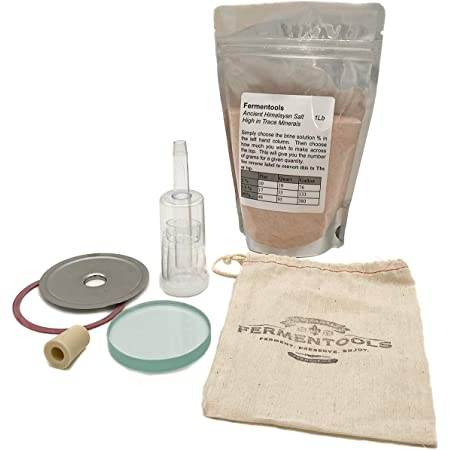 Fermenting Lid Starter Kit - Airlock System - Glass - Weight - Stainless Steel Lid - Mason Jar