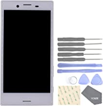 VEKIR Cell Phones Replacement Parts for Sony Xperia X Compact F5321 Display Touch Digitizer Screen Assembly with Screen Frame(White)