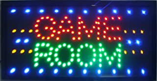 """CHENXI LED-Schild mit """"Game Room""""-Aufschrift, Display 48x25cm, für Spielzimmer/Billard/Gioco Poker/Golf/Sport/Entertain..."""