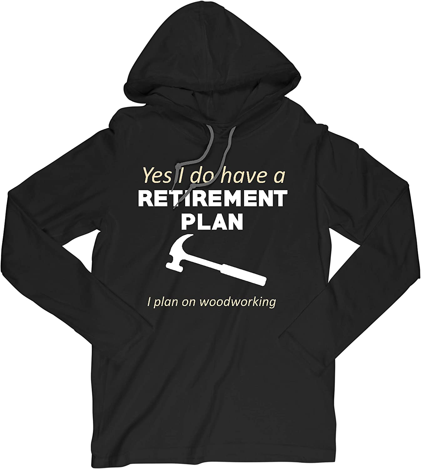 Always Awesome Apparel Black Long Hooded T-Shirt Retireme 2021new shipping free specialty shop Sleeve
