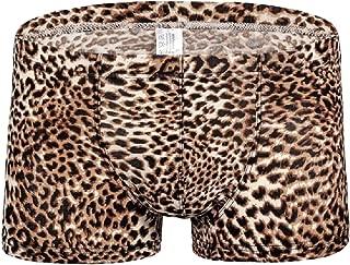 Men's Fashion Underwear Leopard Printed Boxer Briefs Short Underpants