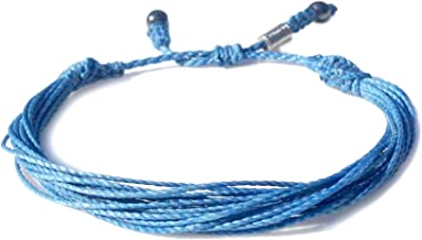 Light Blue Awareness Bracelet for Prostate Cancer, Graves Disease, Cushing Syndrome: Handmade Adjustable Pull Cord Ribbon Cause Jewelry by RUMI SUMAQ