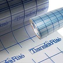 """Greenstar TransferRite 12"""" x 30ft Clear Transfer Paper Tape w/Grid, Application Tape by EllietransferLLC"""