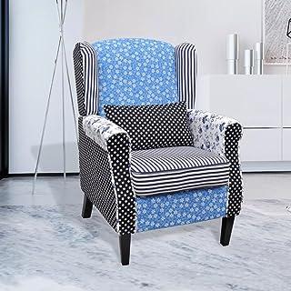 dondans Muebles Sillones Club, Sillones reclinables y calefactoras, sillón con diseño de Patchwork, Tejido Diseño: Rayas, Flores y puntillas, Silla elevadora eléctrica