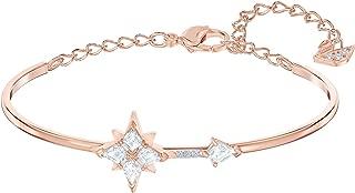 Crystal Symbolic Rose Gold-Tone Star Bangle Bracelet