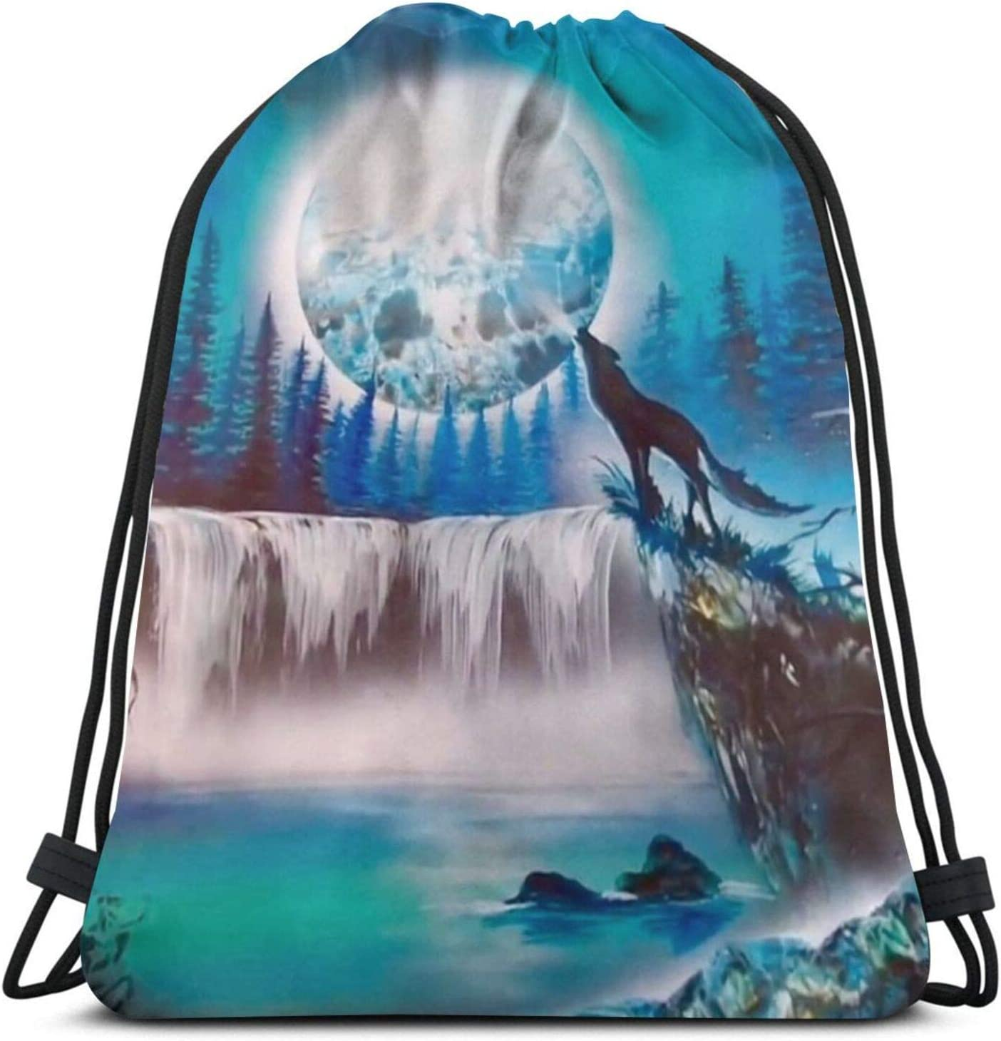 Water Resistant Max 57% OFF Drawstring Backpack Bac Polyester Branded goods Durable String