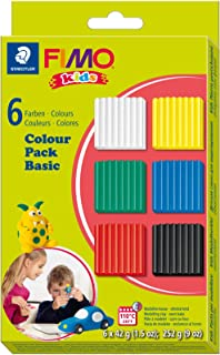 STAEDTLER 8032 01. Bloques de Pasta para modelar Fimo Kids. Pack con 6 Pastillas de Colores Variados, Basic Set