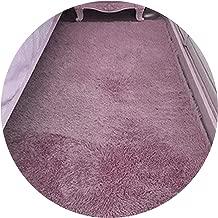 Shaggy Carpet for Living Room/Bedroom Home Warm Plush Floor Rugs Fluffy Mats Mats Silky Rugs,60x120cm,Grey Purple