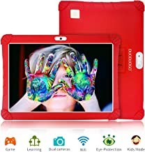 Tablet 10 Pulgadas 4G Full HD 3GB de RAM 32GB/128GB de ROM Android 9.0 Certificado por Google GMS Quad Core Tableta Batería de 8500mAh Dual SIM 8MP Cámara Tablet PC Netfilx WiFi Bluetooth OTG(Rojo)