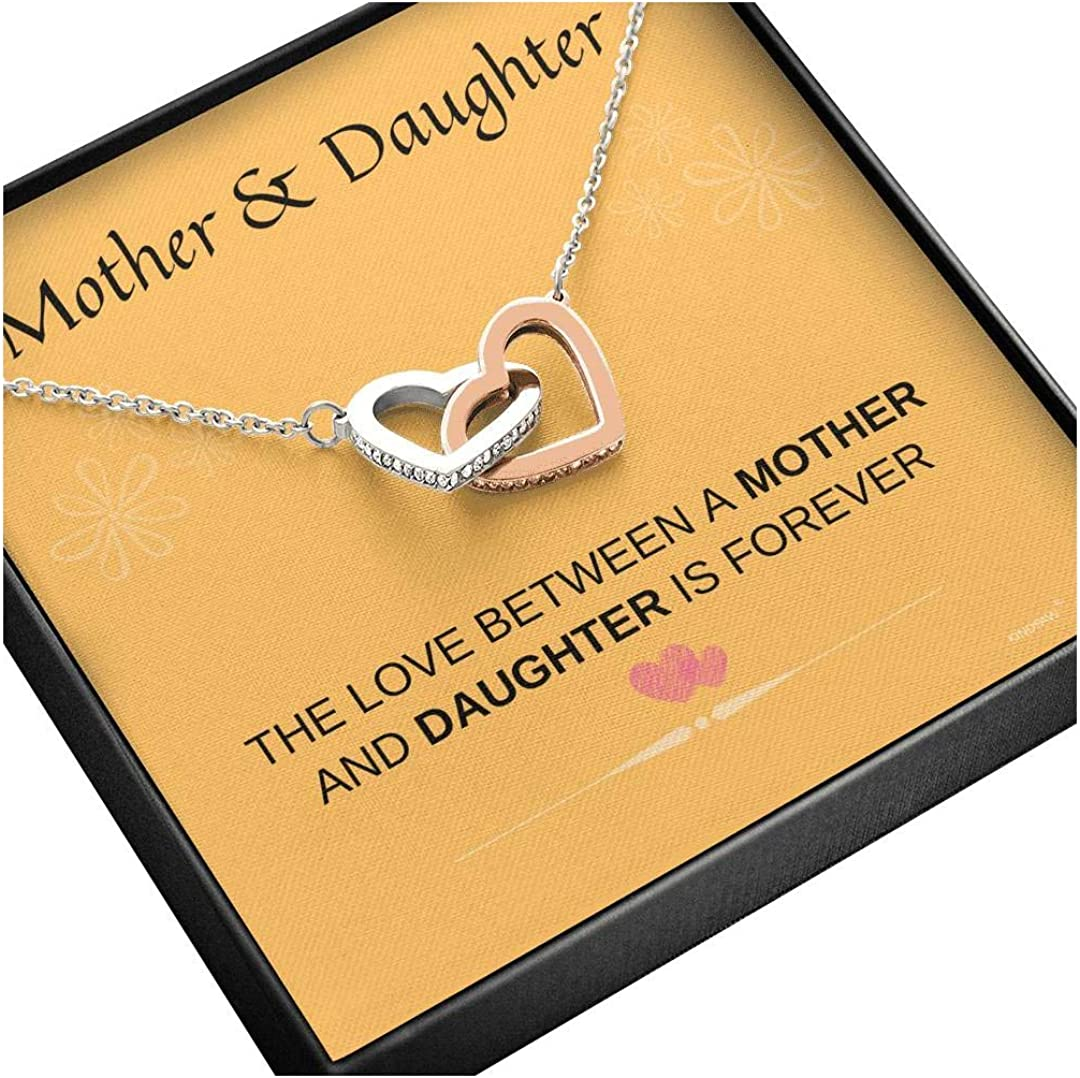 KINDPAW Mother Daughter Necklace Mother's - Courier shipping free shipping Hearts Interlocking Sale SALE% OFF