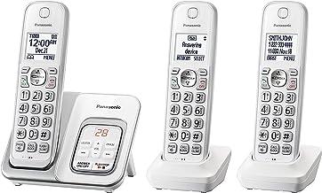 تلفن بی سیم Panasonic KX-TGD533W با دستگاه پاسخگویی - 3 گوشی (تمدید شده)