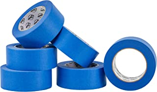 Stesa Blue Painters Tape 2 Inch, No Residue, Easy 14 Day Removal, Multi-Purpose Masking Tape (1.88 Inches x 180 Feet Per Roll) - 6 Pack