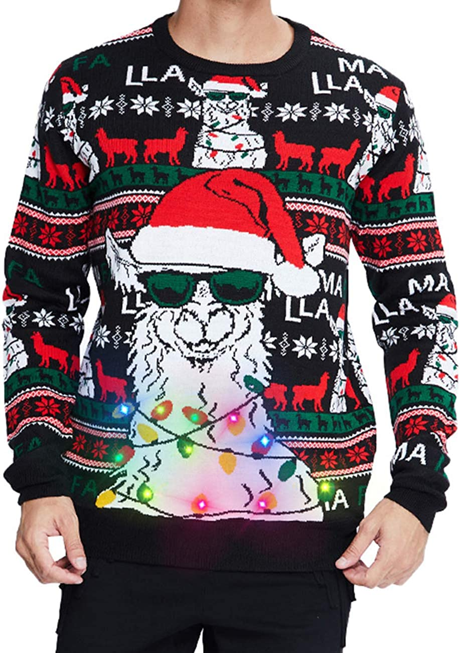 Max 72% Finally popular brand OFF RAISEVERN Men Ugly Christmas Sweater Women Kn Holiday Party Xmas
