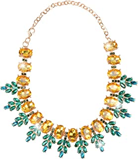 Pineapple Necklace for Women Statement Jewelry Wedding Party Accessories with Gift Box