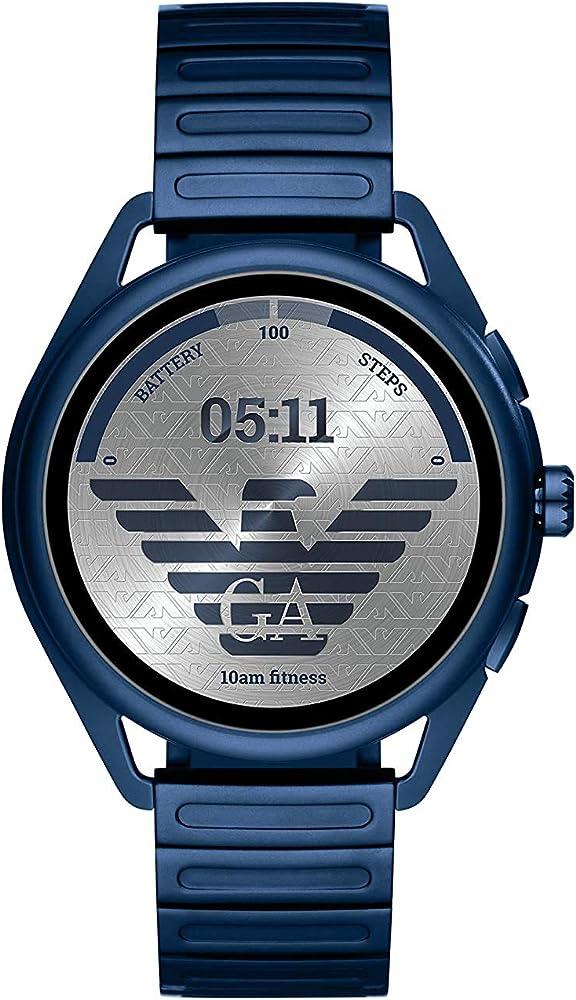 Emporio armani orologio touch screen uomo  in acciaio inossidabile ART5028