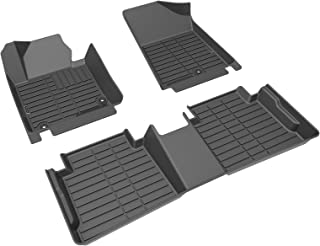 BUNKER INDUST Floor Mats All Weather,TPE Material Fits 2016-2020 Kia Optima, 2015-2019 Hyundai Sonata, Front & Rear Custom Fit Car Floor Liners,1st & 2nd Row, Tough/Durable/Odorless,Black