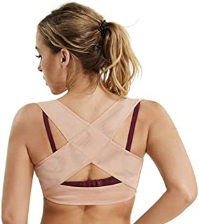 Posture Corrector for Women Breast Support Bra Top Corset Back Brace (XX-Large,  Beige)
