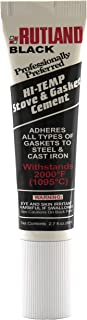 Rutland Products Rutland Stove Gasket Cement, 2.3-Ounce Tube, Black