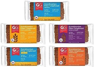 Peaceful Squirrel Variety, GG Scandinavian Crispbread Thins, Pack of 10 (2 of Each: Original, Original with Oat Bran, Sunf...