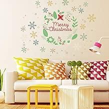 Anuom Christmas Decorations Decoration Cartoon Wall Stickers Christmas Tree Snowman Shop Window Glass Door Sticker Snowman Stickers (Christmas(4))